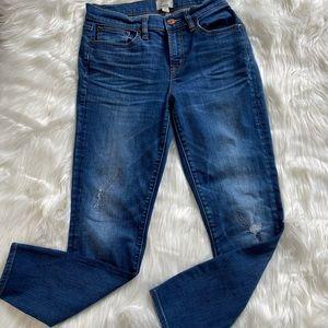 J crew toothpick jeans 29